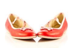 Girl shoes footwear isolated on white background accessories Royalty Free Stock Photo