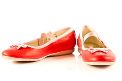 Girl shoes footwear isolated on white background Stock Photos