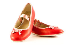 Girl shoes footwear isolated on white background accessories Royalty Free Stock Photography
