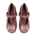 Girl shoes isolated on white background Royalty Free Stock Photo