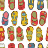 Girl shoes pattern Royalty Free Stock Photo