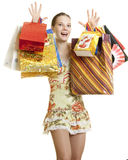 Girl shopper Royalty Free Stock Photo