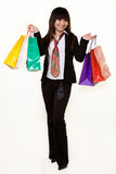 Girl shopper Stock Image