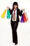 Girl shopper stock image