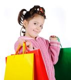 Girl in shopping Royalty Free Stock Photo