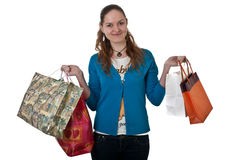 Girl with shopping Stock Photo