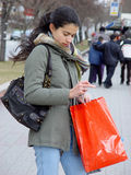 Girl from shopping Stock Images