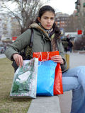 Girl from shopping Royalty Free Stock Images