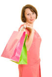 Girl with shopping Royalty Free Stock Photos
