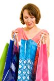 Girl with shopping Royalty Free Stock Photography