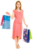 Girl with shopping Stock Images