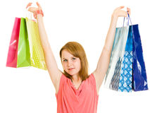 Girl with shopping Stock Photos