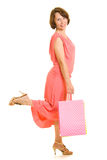 Girl with shopping Royalty Free Stock Photo