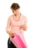 Girl with shopping Royalty Free Stock Image