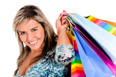 Girl shopping Stock Photos