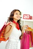 Girl shopping Stock Image