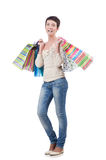 Girl after the shopping Stock Photo