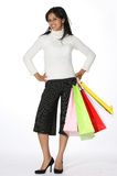 Girl shopping. Attractive young woman with shopping bags Royalty Free Stock Images