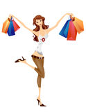 Girl Shopping stock photography