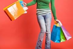 girl shopping Στοκ φωτογραφία με δικαίωμα ελεύθερης χρήσης