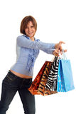 Girl shopping Royalty Free Stock Image