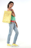 Girl with the shopping bag Royalty Free Stock Images