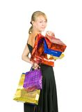 Girl with shopping bag Royalty Free Stock Photos