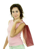 Girl with shopping bag Royalty Free Stock Image