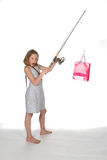 Girl with shopping bag Royalty Free Stock Photo