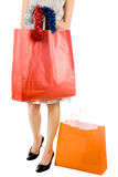 Girl with shopping bag Stock Image