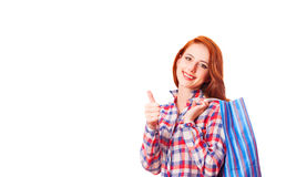 Girl with shopping bag Royalty Free Stock Images