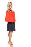 Girl with shopping bag Stock Image