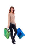 Girl and Shopping Bags. Royalty Free Stock Image