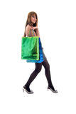 Girl and Shopping Bags. Royalty Free Stock Photo