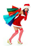 Girl with shopping bags Royalty Free Stock Photo