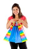 Girl with shopping bags Stock Images