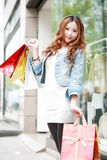 Girl with shopping bags Royalty Free Stock Photography