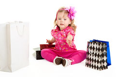 Girl with shopping bags Royalty Free Stock Image