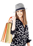 Girl shopping bags Royalty Free Stock Photo