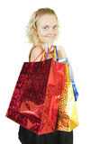 Girl with shopping bags Stock Photography