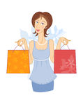 Girl with shopping bags 2 Royalty Free Stock Photography