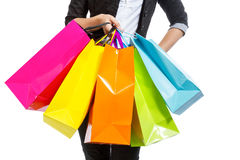 Girl with shopping bags Royalty Free Stock Images