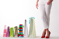 Girl with shopping bags. Stock Photos