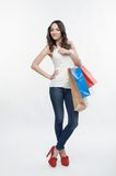 Girl and shopping Stock Photography