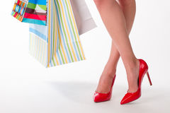 Girl on shopping. Royalty Free Stock Photo