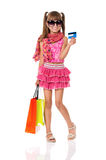 Girl shopping Stock Photo