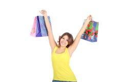 Girl shopping Stock Photos