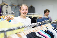 Girl  in shopping center Royalty Free Stock Photo