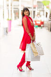 Girl shopping center Stock Image
