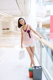 Girl in the shopping center Royalty Free Stock Photography